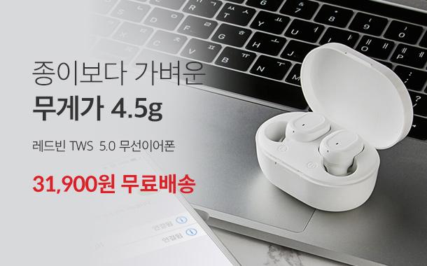 레드빈 TWS  5.0 무선이어폰